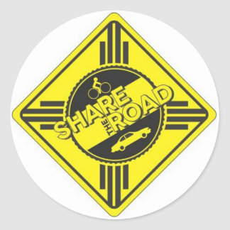 share the road.JPG Classic Round Sticker