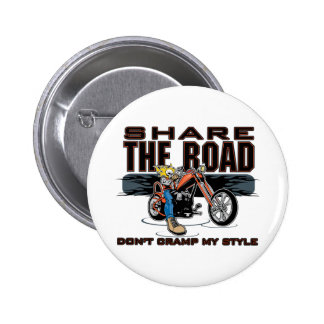 Share the Road Motorcycle Button