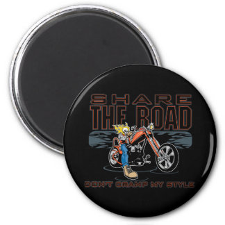 Share the Road Motorcycle Magnet