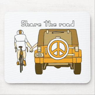 Share The Road Mouse Pad