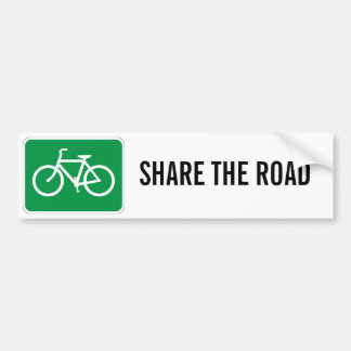 Share The Road with Bicycles Bumper Stickers