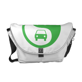 Share the Road Yin Yang Courier Bags