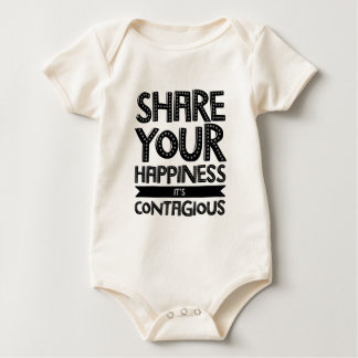 Share Your Happiness It's Contagious Baby Bodysuit
