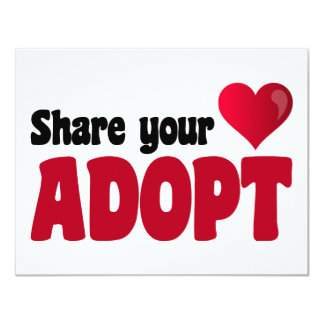 Share Your Heart Adopt Card