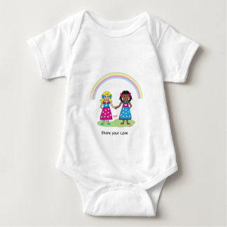 SHARE YOUR LOVE - LOVE is LOVE- Equality for All Baby Bodysuit
