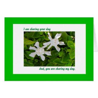 Shared Birthday Card, Gardenias Card