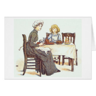 Sharing a Meal, Greeting Card