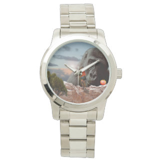 Sharing An Apple With A Gorilla, Large Unisex Watch
