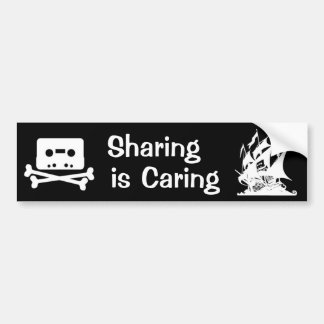 Sharing is Caring Bumper Sticker