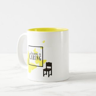 Sharing is Caring Mug Yellow Butterflies