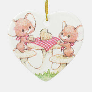 Sharing Is Caring Spring Summer Mice Ceramic Ornament