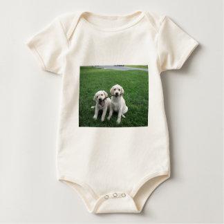 Sharing Lab Puppies Baby Bodysuit