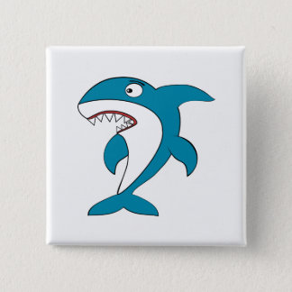 Shark 2 Inch Square Button