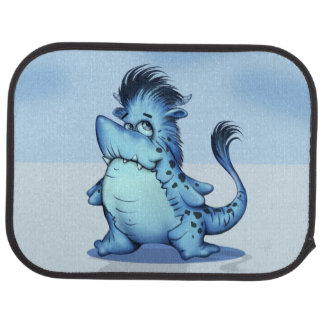 SHARK ALIEN FISH Cartoon Car Mats (Rear) (set of 2