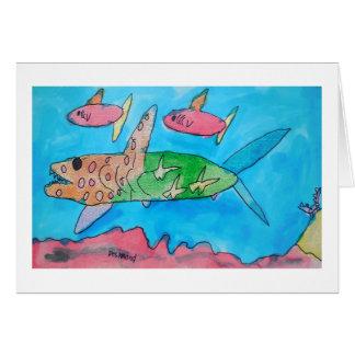Shark Aloha Card