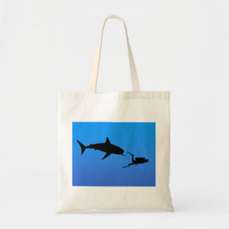 Shark and SCUBA Tote Bag