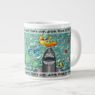 Shark And Yellow Banana Submarine Jumbo coffee Mug