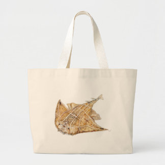 Shark angel, angelote large tote bag