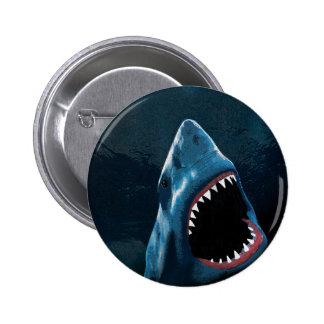 Shark attack 2 inch round button