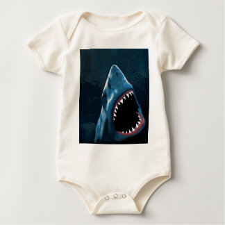 Shark attack baby bodysuit