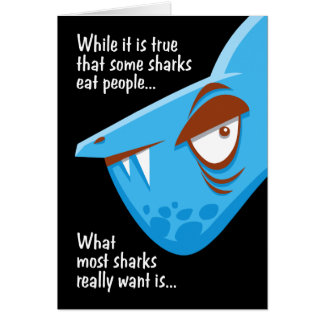 Shark Attack Birthday Greeting Card