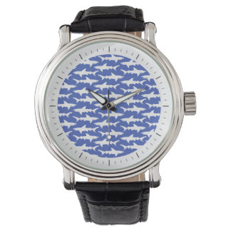 Shark Attack - Blue and White Watch