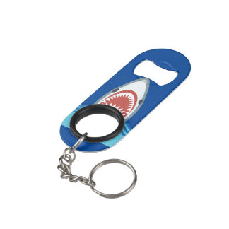 Shark Attack Funny Keychain Bottle Opener