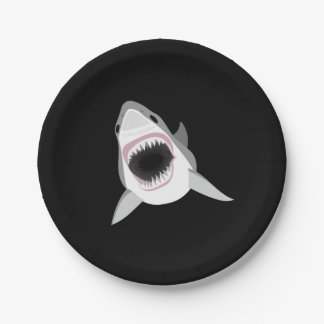 Shark Attack - Great White Shark Shows its Bite Paper Plate