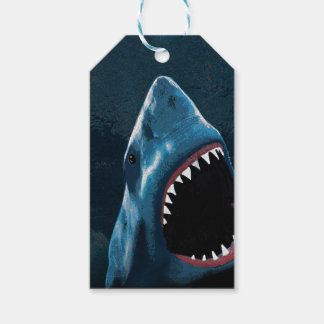 Shark attack pack of gift tags
