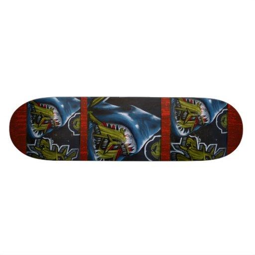 Shark attack pattern - Cool Graffiti Skateboard