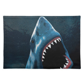 Shark attack placemat