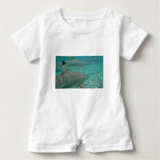 shark baby romper