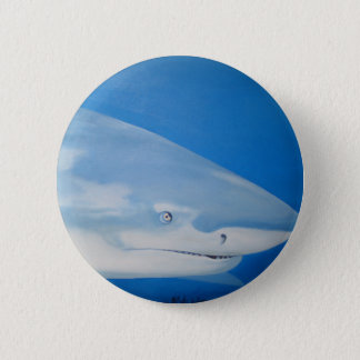 Shark  Bite 2 Inch Round Button