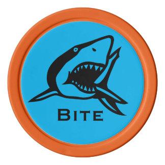 Shark Bite Bright Blue Sealife Golf Ball Marker Set Of Poker Chips