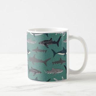 Shark Boys Green Ocean Animals / Andrea Lauren Coffee Mug