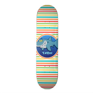 Shark Bright Rainbow Stripes Skateboard Decks