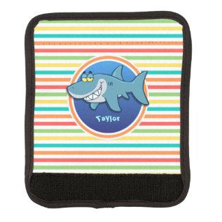 Shark; Bright Rainbow Stripes Handle Wrap