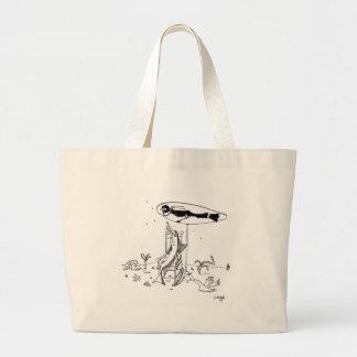 Shark Cartoon 1087 Large Tote Bag