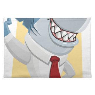 shark cartoon placemat