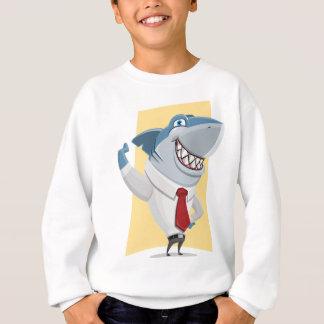shark cartoon sweatshirt