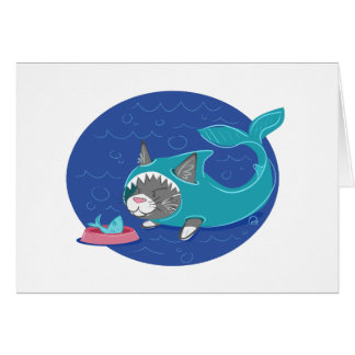 Shark Cat - Greeting Card