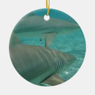 shark ceramic ornament