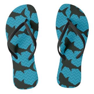 Shark Chevron Flip Flops