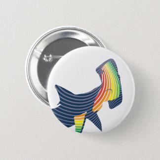 Shark Color Swirl 2 Inch Round Button