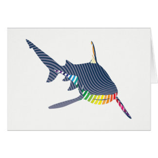 Shark Color Swoosh Card