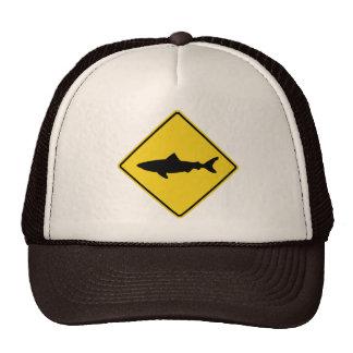 Shark Crossing Sign Trucker Hat