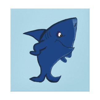 Shark design statonery gallery wrap canvas
