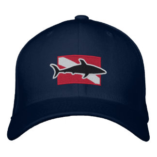 Shark Diver cap Embroidered Hats