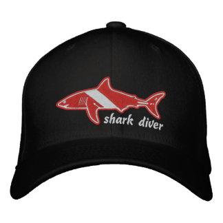 Shark Diver Dive Flag Cap