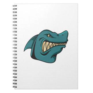 Shark Face Funny Funny Gift Notebooks